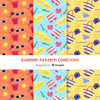 Kreatives sommermuster collectio