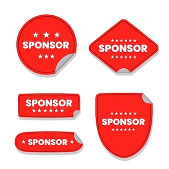 Kreatives sponsoren-aufkleberpaket