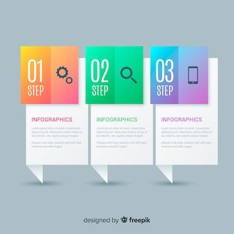 Kreatives steigungsinfographic-schrittkonzept