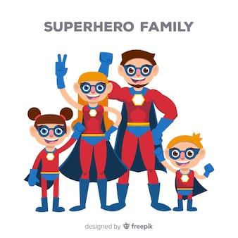 Kreatives superheldfamilienkonzept