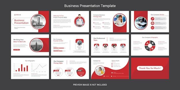 Kreatives und modernes business powerpoint-präsentationsfolien-design-set