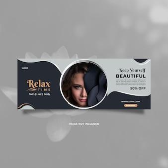 Kreatives und modernes werbedesign für die schönheitspflege für social-media-banner und web-internet-anzeigen
