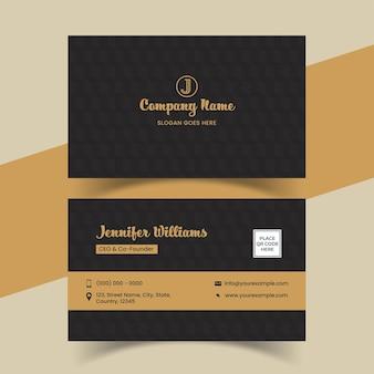 Kreatives und professionelles visitenkarten-design mit doppelseitigen seiten