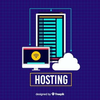Kreatives web-hosting-konzept