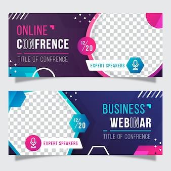 Kreatives webinar-bannereinladungsset