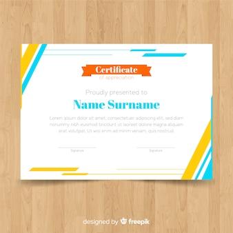 Kreatives zertifikat template-design