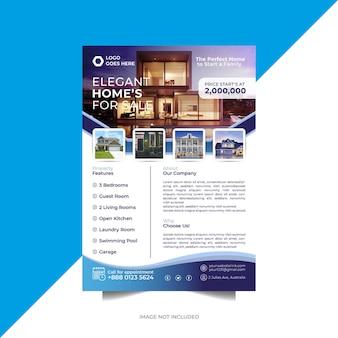 Kreatives zuhause zum verkauf immobilien flyer vorlage