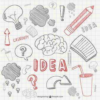 Kreativität kritzeleien