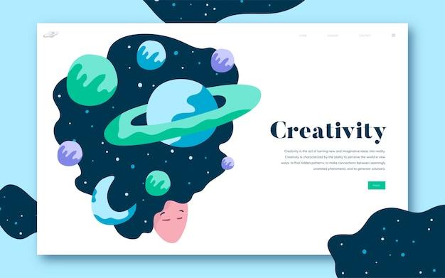 Kreativität und website-website-grafik