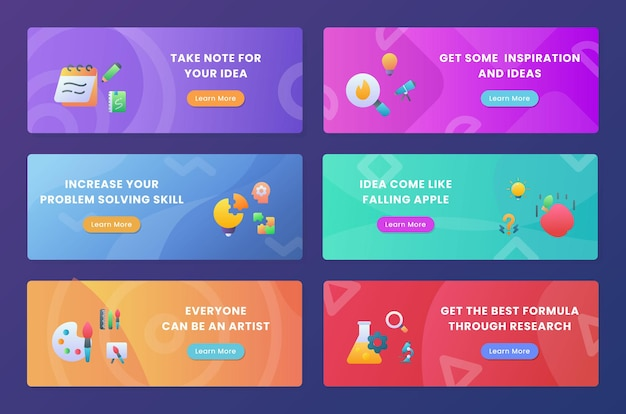 Kreativitäts-inspirationsset-sammlungspaket