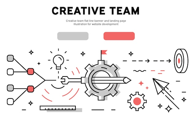 Kreativteam web infografik