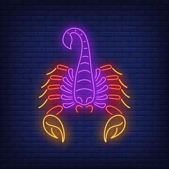 Krebs-leuchtreklame