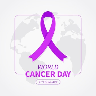 Krebstagband auf weltkarte