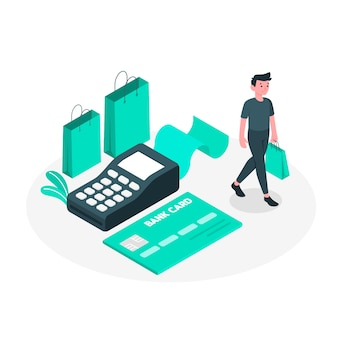 Kreditkarte konzept illustration