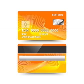 Kreditkarte zwei seiten mit abstraktem design.