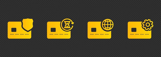 Kreditkarten-icon-set