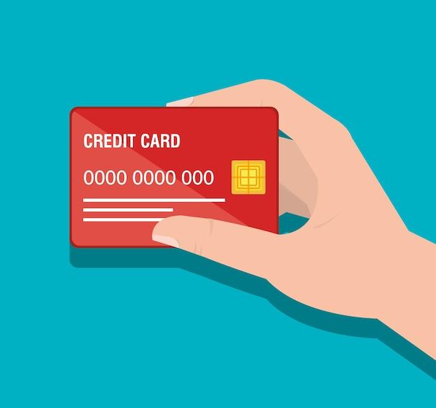 Kreditkartengeschäftsikonenvektor-illustrationsdesign