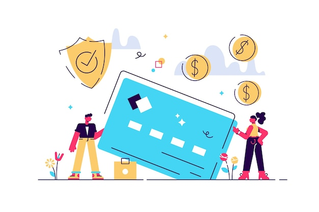 Kreditkartensicherheit zum schutz finanzieller einsparungen. monatsgehalt, gehalt, budget.
