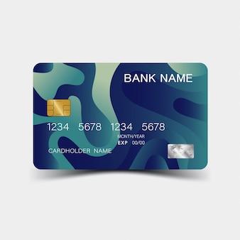 Kreditkartenvorlage
