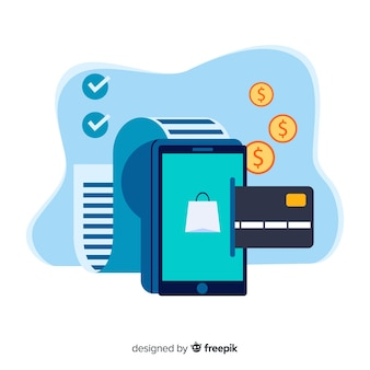 Kreditkartenzahlungskonzept für zielseite