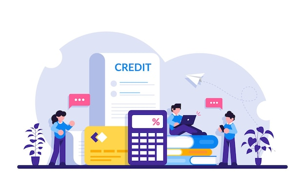 Kreditkonzept. online-banking. kreditkarten- und internet-einkaufskonzepte für finanzmanagementdienste und -anwendungen.