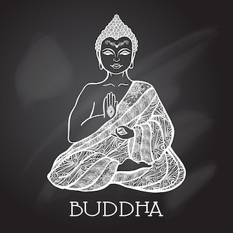 Kreide board buddha abbildung