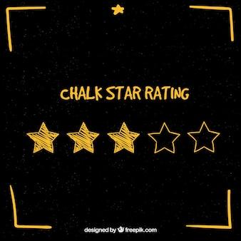 Kreide-sterne-rating-konzept