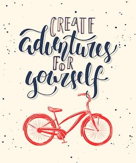 Kreieren sie mit dem fahrrad abenteuer für sich.