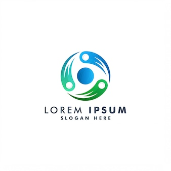 Kreis abstrakte logo-schablonenillustration