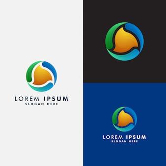 Kreis abstrakte logo-vorlage
