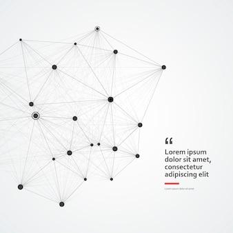 Kreis abstrakte verbindung, wissenschaften oder technologiekonzept