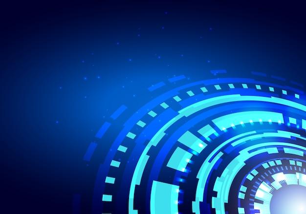 Kreis-abstraktes futuristisches hud der digitaltechnik-ui