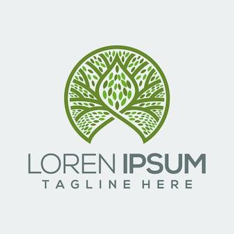 Kreis baum grünes logo