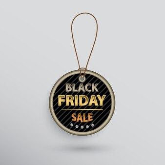 Kreis black friday sale shopping tag mit text.