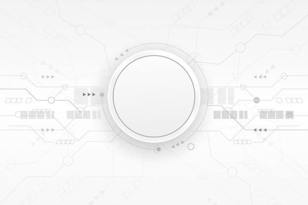 Kreis des papiers 3d auf sauberem leiterplattehintergrund.