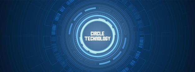 Kreis digitaler hintergrund smart lens-technologie überlappungsschicht lichteffekt-design-konzept