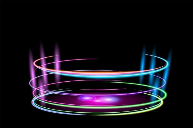 Kreis glänzender lichteffekt