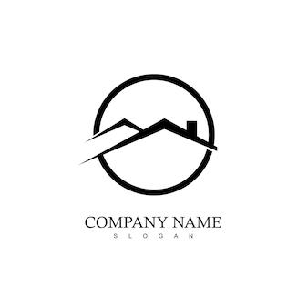Kreis immobilien logo vorlage