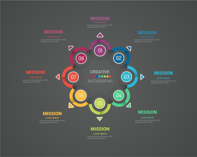 Kreis infografik dünne linie design.