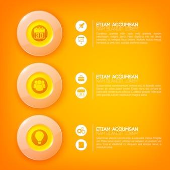 Kreis infografik geschäftskonzept