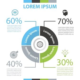 Kreis infografik vorlage.