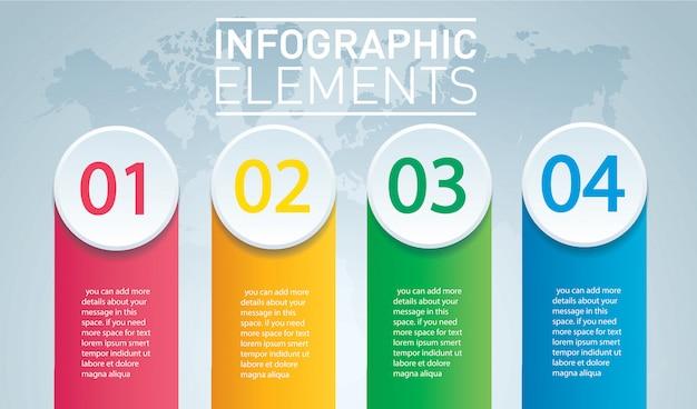 Kreis infographik vorlage mit 4 optionen