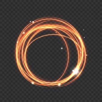 Kreis leuchtende linien