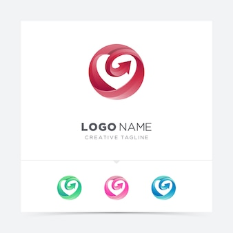 Kreis liebe mit pfeil logo variation