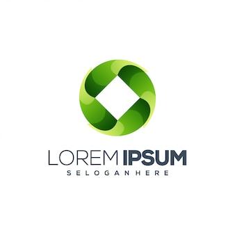 Kreis logo design illustrationen
