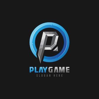 Kreis-logo mit dem buchstaben p
