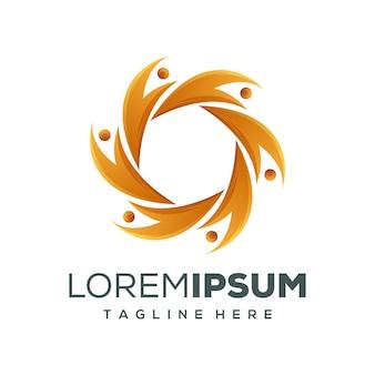 Kreis menschen logo design