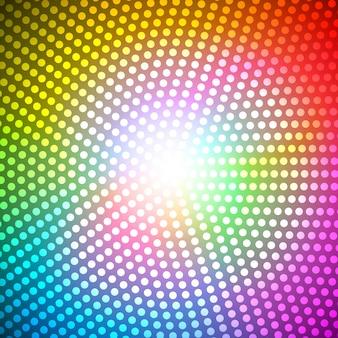 Kreis-radius-abstrakter regenbogen-hintergrund-vektor-illustration eps10
