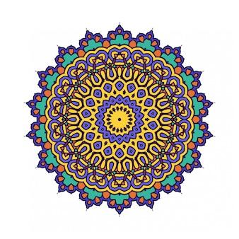 Kreis runde verzierung mit mandalastil