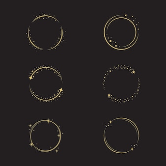 Kreis stern vektor icon design illustration vorlage